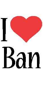 Ban i-love logo