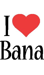 Bana i-love logo