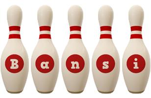 Bansi bowling-pin logo