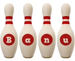 Banu bowling-pin logo