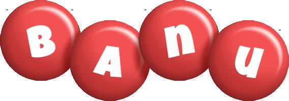 Banu candy-red logo