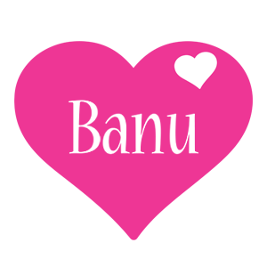 Banu love-heart logo