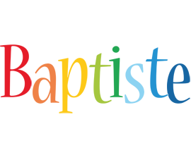 Baptiste birthday logo