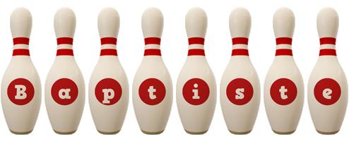 Baptiste bowling-pin logo