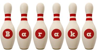 Baraka bowling-pin logo