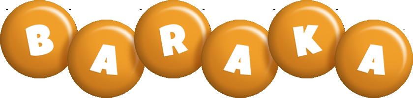 Baraka candy-orange logo