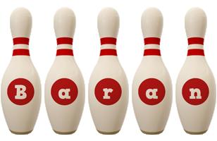 Baran bowling-pin logo