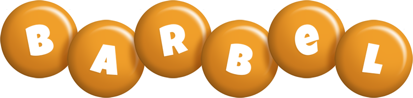 Barbel candy-orange logo
