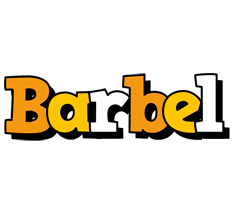 Barbel cartoon logo