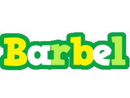 Barbel soccer logo