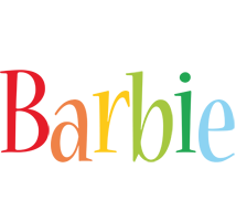 Barbie birthday logo