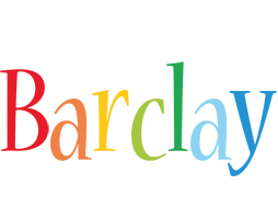Barclay birthday logo