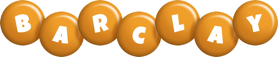 Barclay candy-orange logo