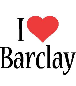 Barclay i-love logo