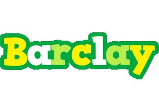 Barclay soccer logo