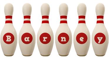 Barney bowling-pin logo