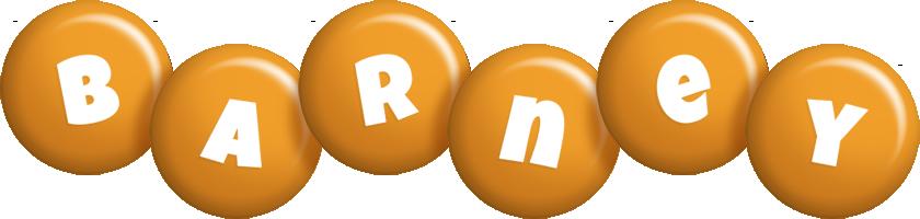 Barney candy-orange logo