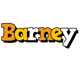 Barney cartoon logo