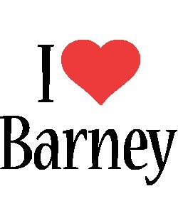 Barney i-love logo