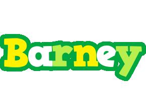 Barney soccer logo