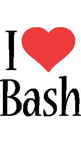 Bash i-love logo