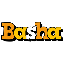 Basha cartoon logo