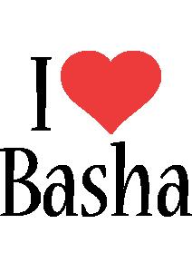 Basha i-love logo