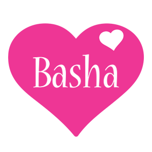 Basha love-heart logo