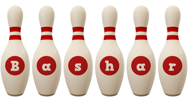 Bashar bowling-pin logo