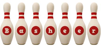 Basheer bowling-pin logo
