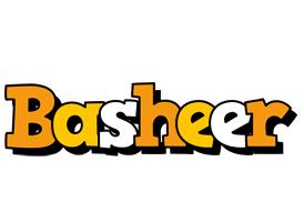 Basheer cartoon logo