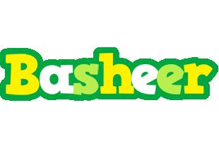 Basheer soccer logo