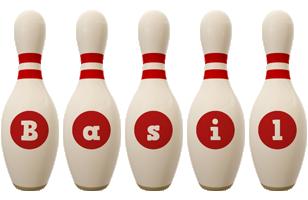 Basil bowling-pin logo