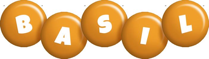Basil candy-orange logo