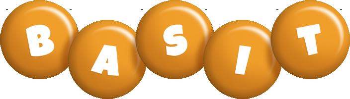 Basit candy-orange logo