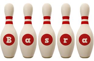 Basra bowling-pin logo