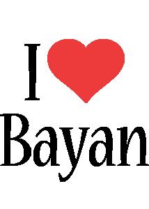 Bayan i-love logo