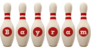 Bayram bowling-pin logo