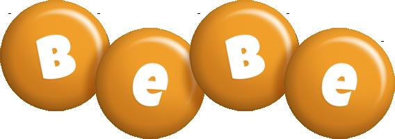 Bebe candy-orange logo