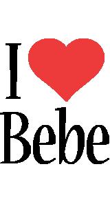 Bebe i-love logo