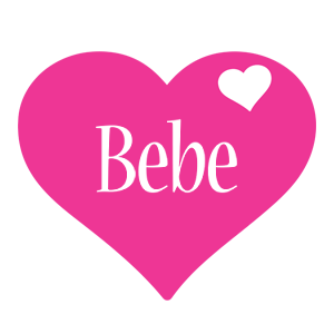 Bebe love-heart logo
