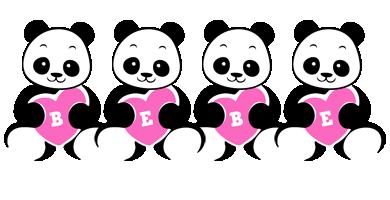 Bebe love-panda logo