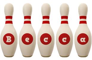 Becca bowling-pin logo