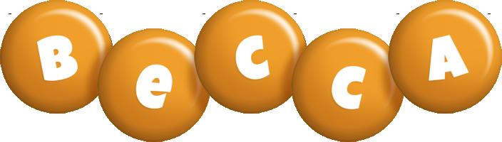 Becca candy-orange logo