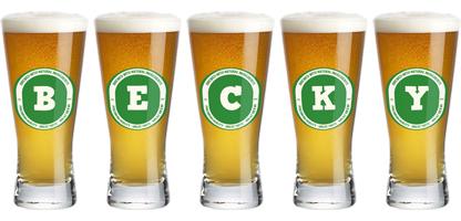 Becky lager logo