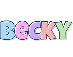 Becky pastel logo