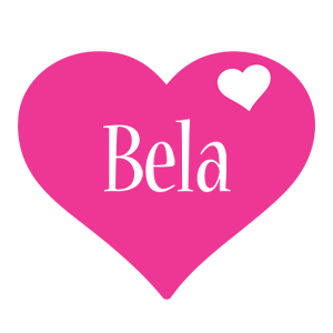 Bela love-heart logo