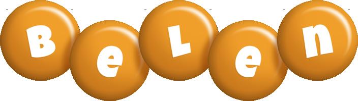 Belen candy-orange logo