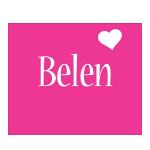 Belen love-heart logo