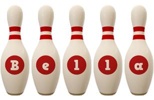 Bella bowling-pin logo